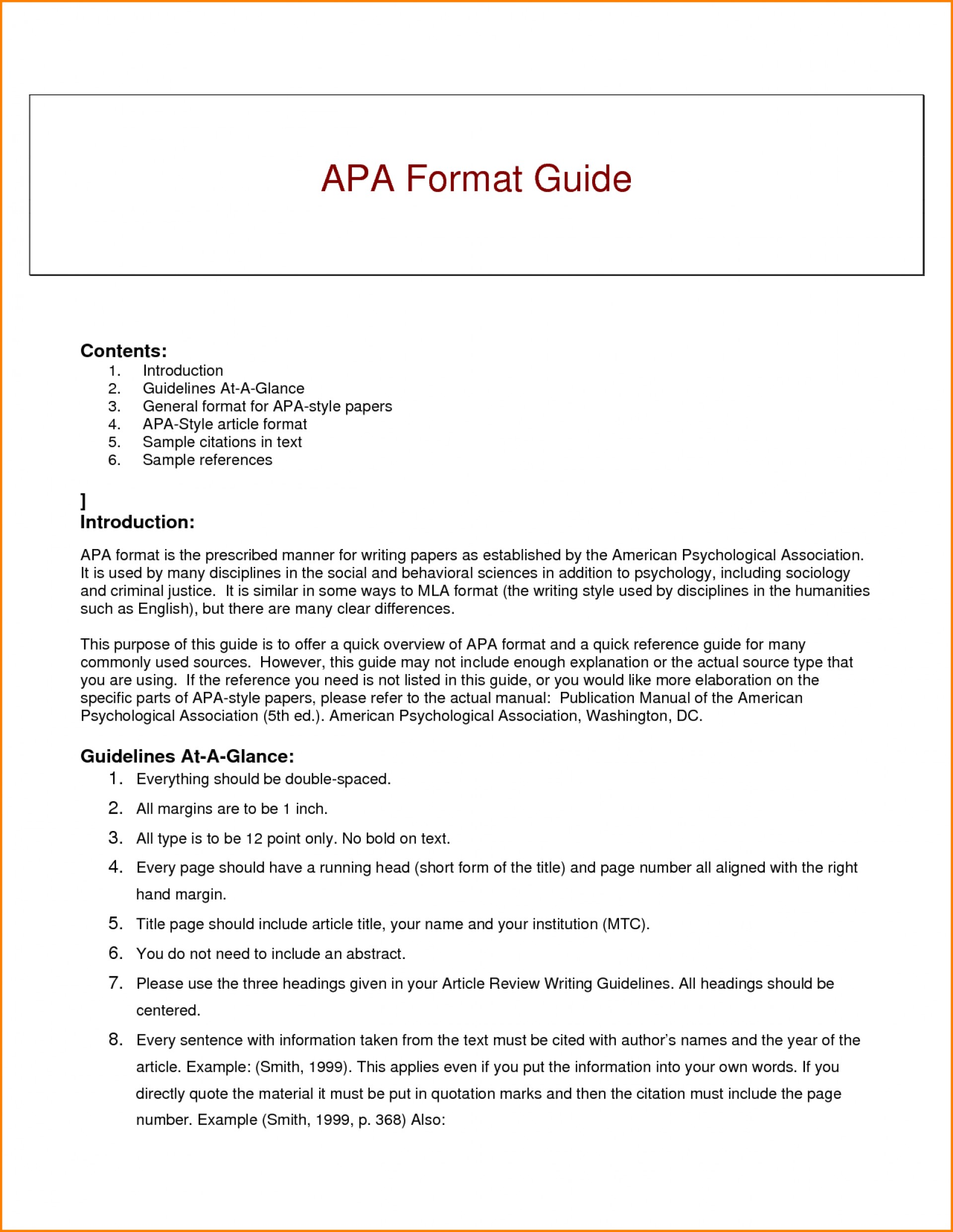 003 Research Paper Apa Style Guide For Writing Best Papers 1920
