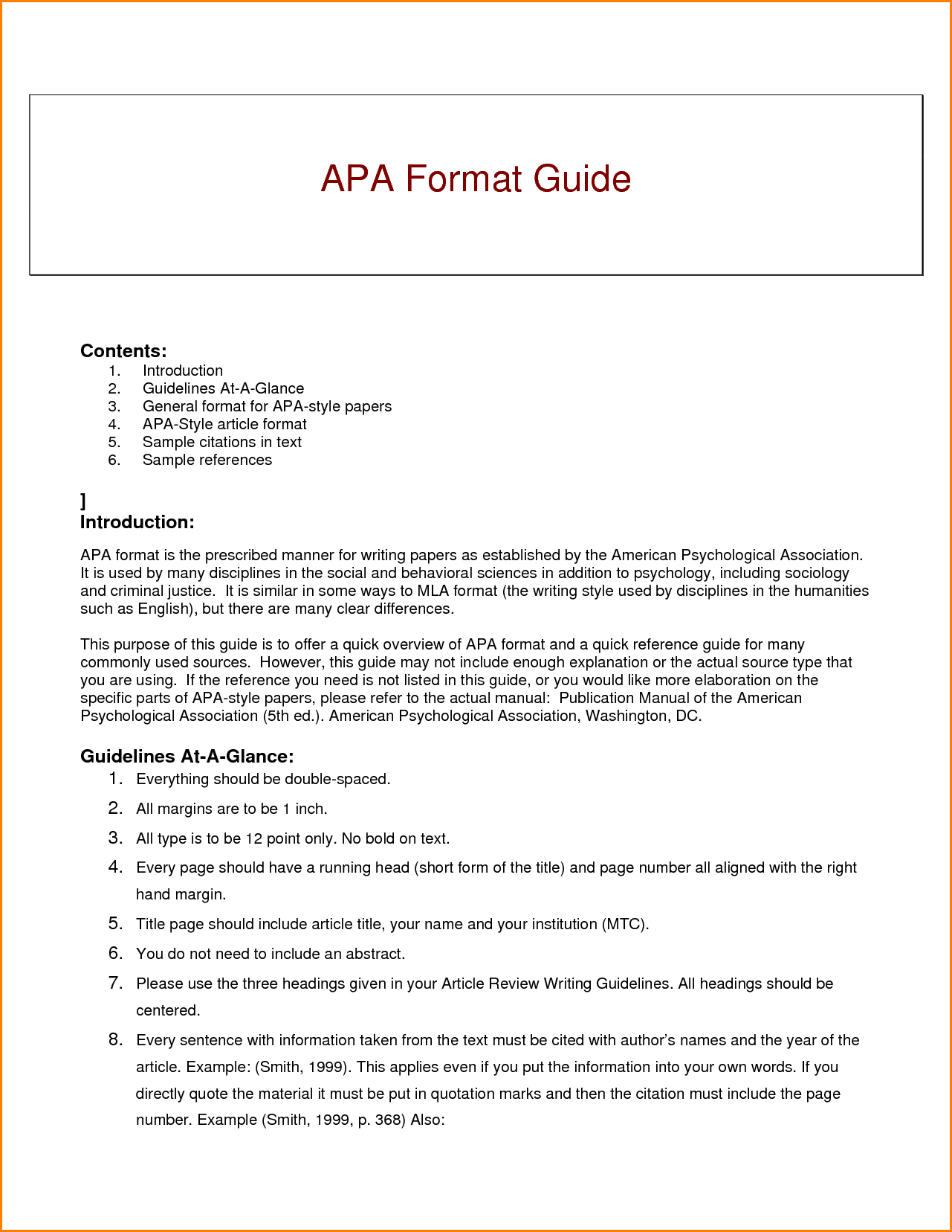 003 Research Paper Apa Style Guide For Writing Best Papers Full