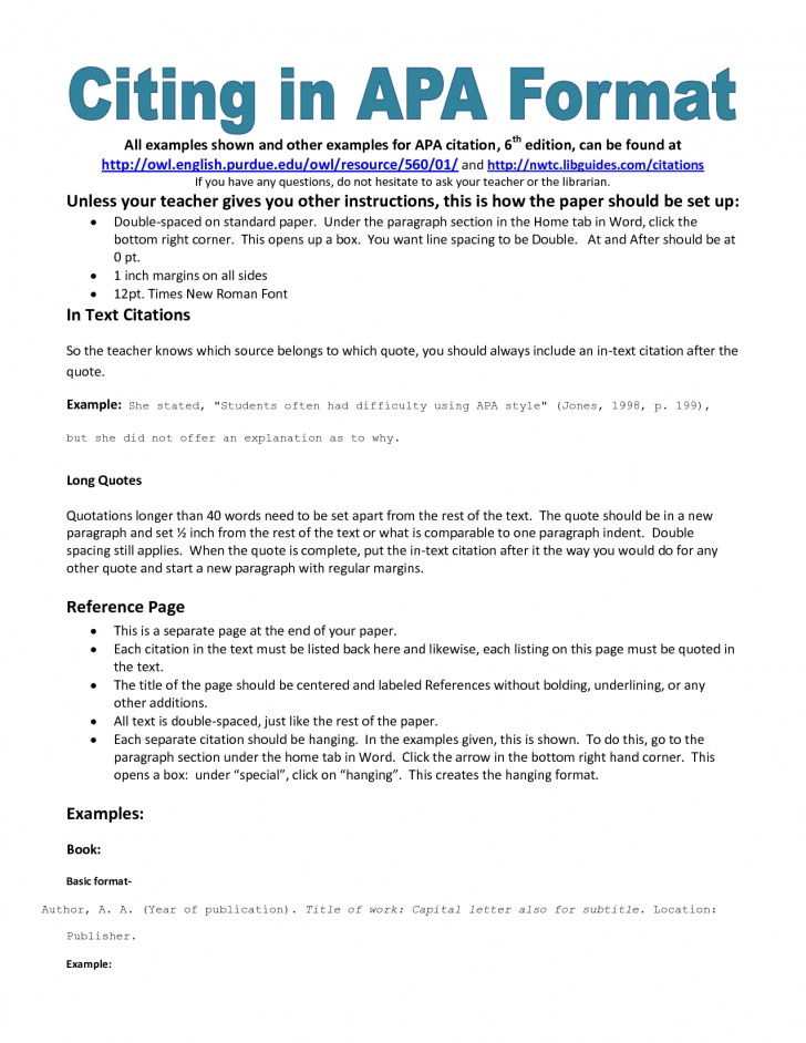 003 Research Paper Bibliography Apa Format Outstanding Reference Page References 728