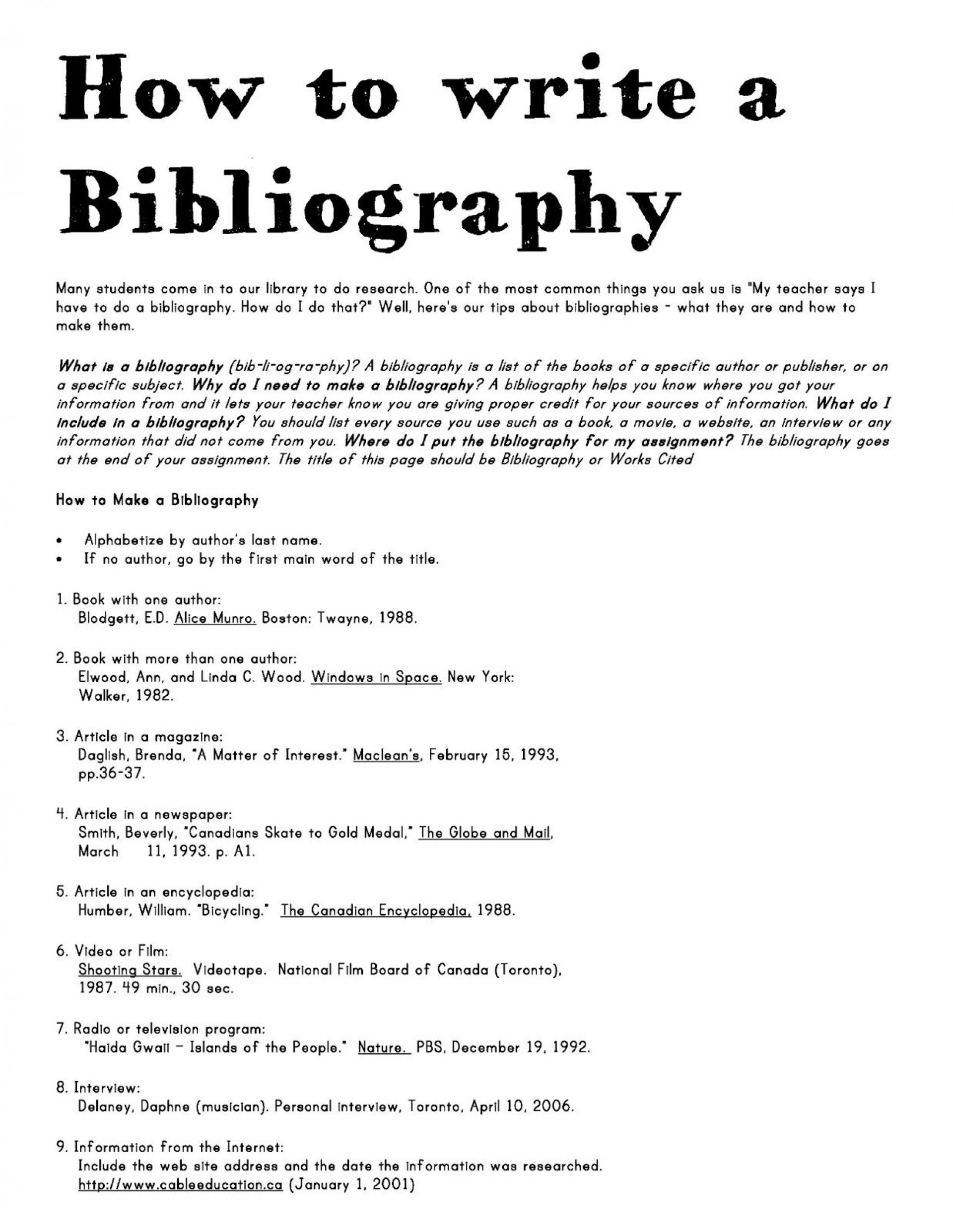003 Research Paper Bibliography Topics Striking 1920