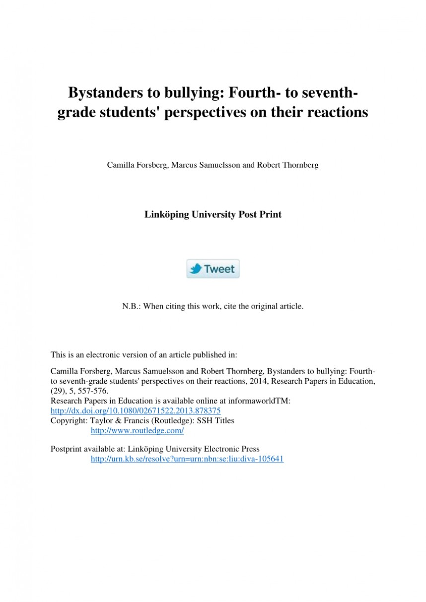 003 Research Paper Bullying Papers Formidable Anti Cyberbullying Example Pdf