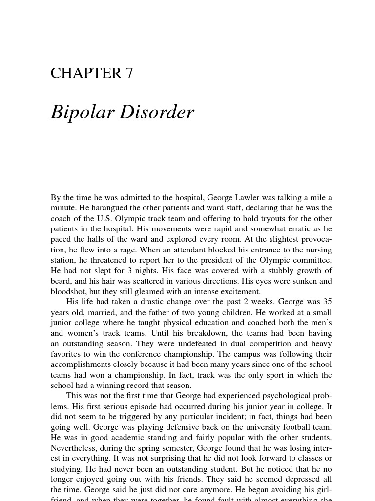 003 Research Paper Case Study Bipolar Disorder Scribd On Unusual Pdf Full