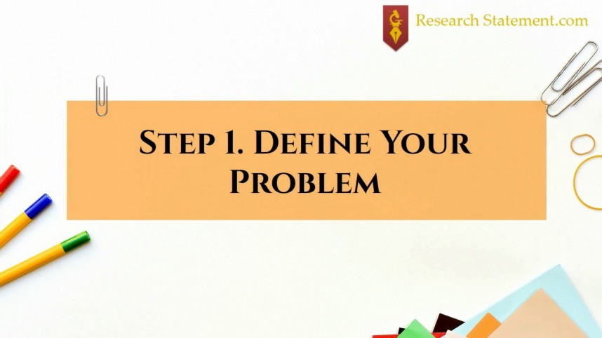 003 Research Paper Define Problem Statement In Surprising