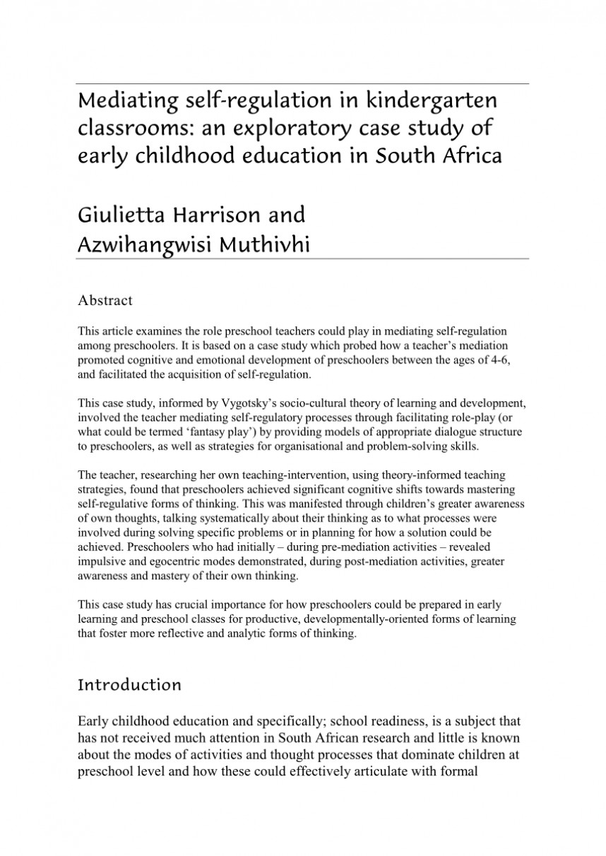 003 Research Paper Early Childhood Education Examples Marvelous