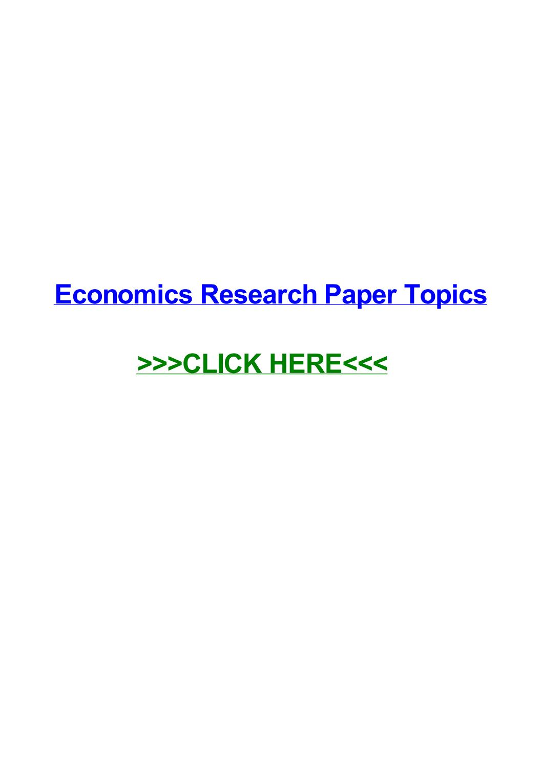 003 Research Paper Economics Topics Page 1 Remarkable In Philippines India International Full