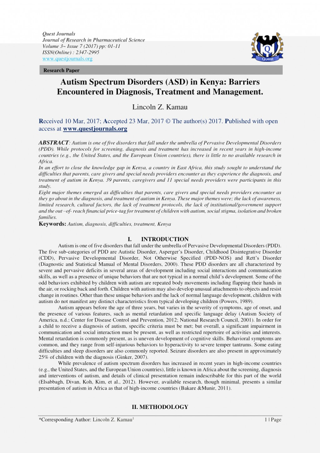 003 Research Paper Essay On Autism Spectrum Disorder Review Article Disorders Paper20 Awesome Papers Topics Large