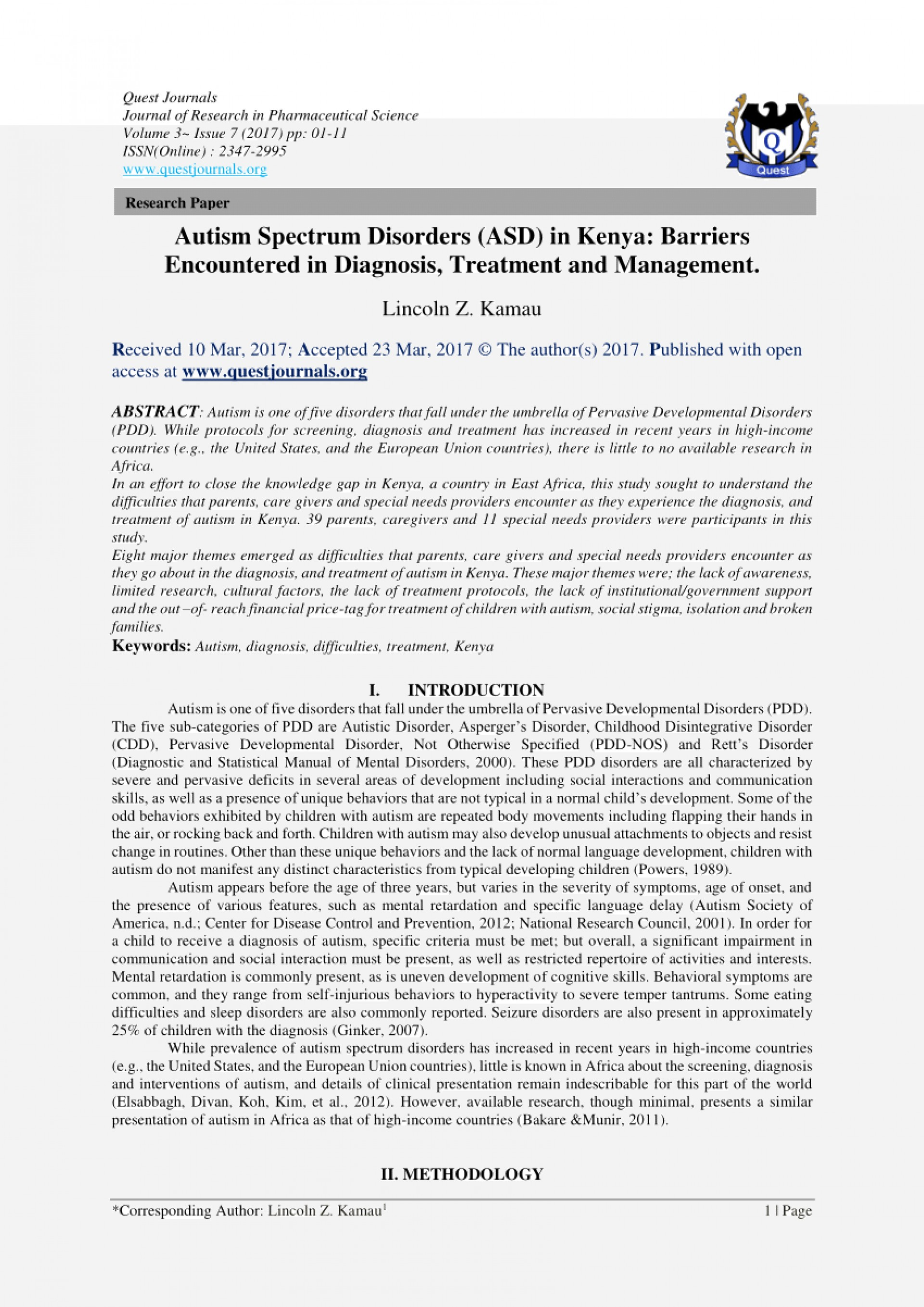 003 Research Paper Essay On Autism Spectrum Disorder Review Article Disorders Paper20 Awesome Papers Topics 1920