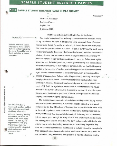 003 Research Paper Example Of An Sample Wonderful A Scientific Proposal Apa Format Written In Mla 480