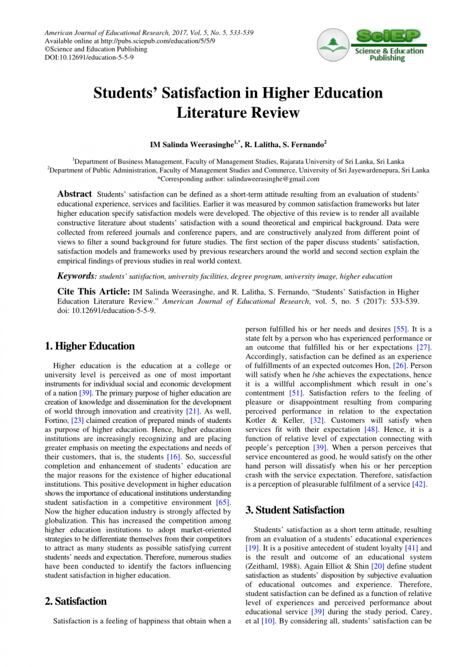 003 Research Paper Higher Education Pdf Amazing 1920