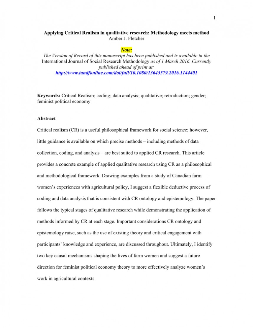 003 Research Paper How To Write Methodology For Qualitative Phenomenal The Section Of A 868
