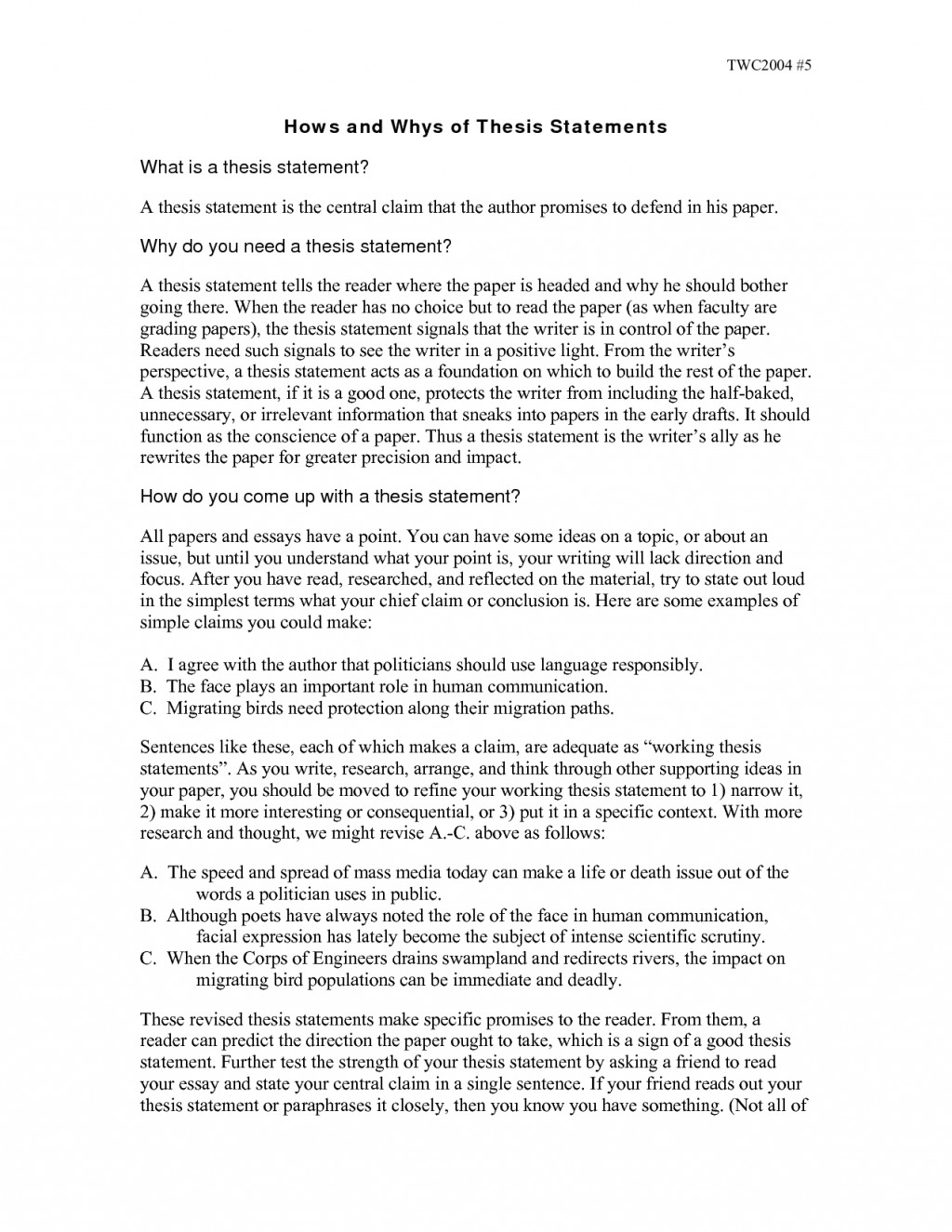 003 Research Paper How To Write Thesis Statement Examples For Papers Unique A History Scientific Large