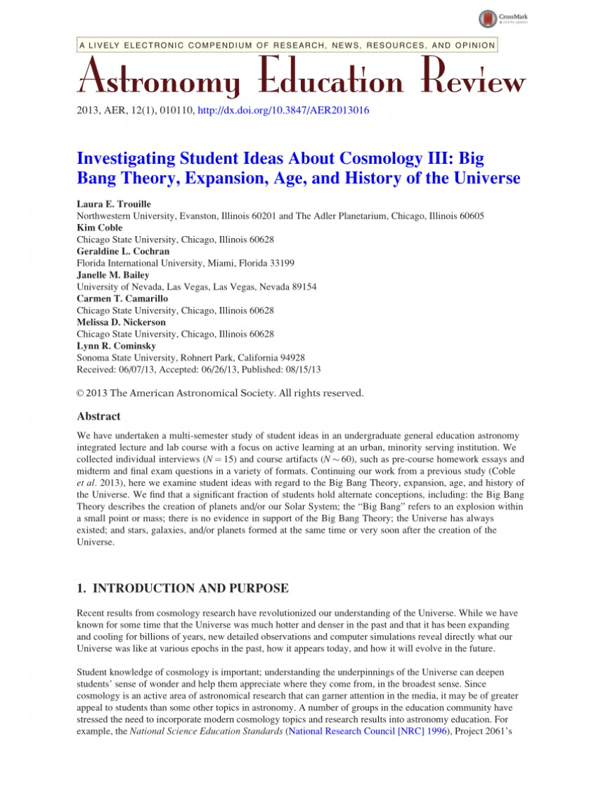 003 Research Paper Interesting Astronomy Topics For Marvelous