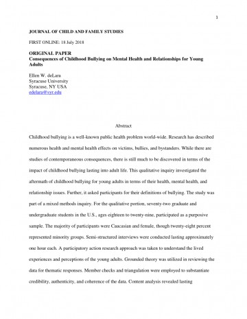 003 Research Paper Largepreview Psychological Effects Of Breathtaking Bullying 360