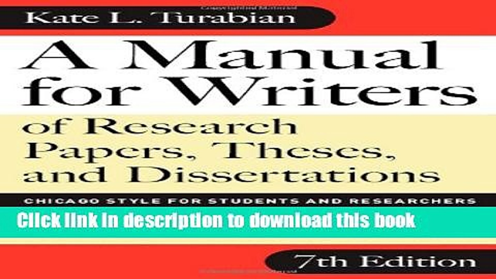 003 Research Paper Manual For Writers Of Papers Theses And Dissertations 7th Edition X1080 Sensational A Full