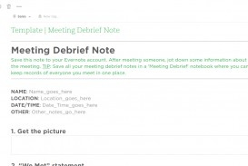 003 Research Paper Meeting Debrief Evernote Templates Note Card Maker Marvelous For