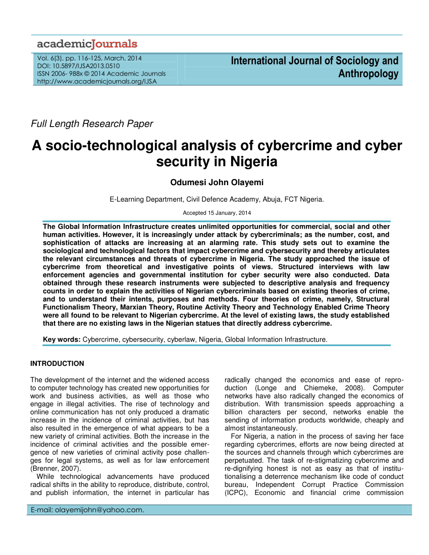 003 Research Paper On Cyber Security Exceptional In India 2018 Pdf Full