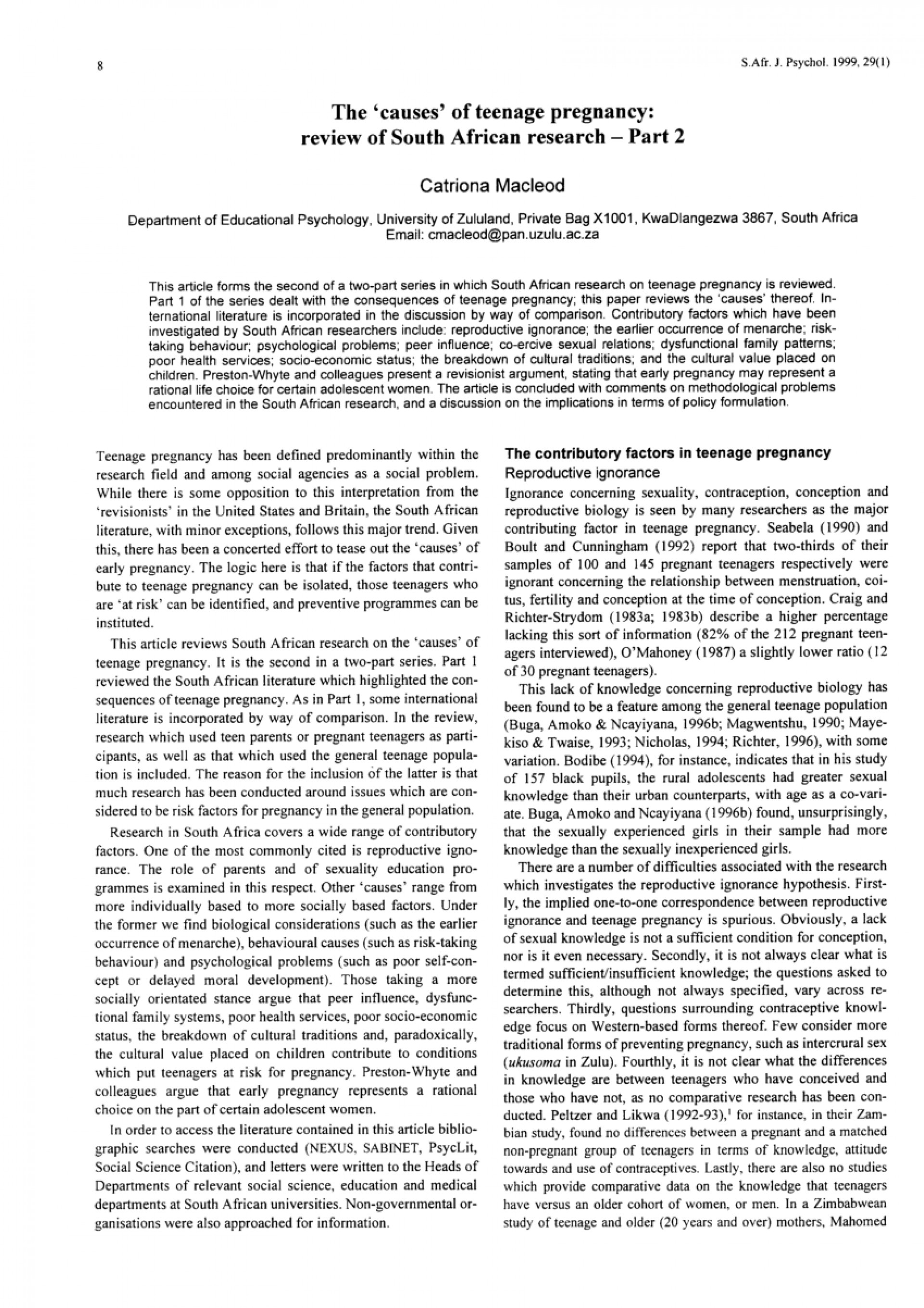 003 Research Paper On Teenage Pregnancy Excellent Topics Pdf Report 1920