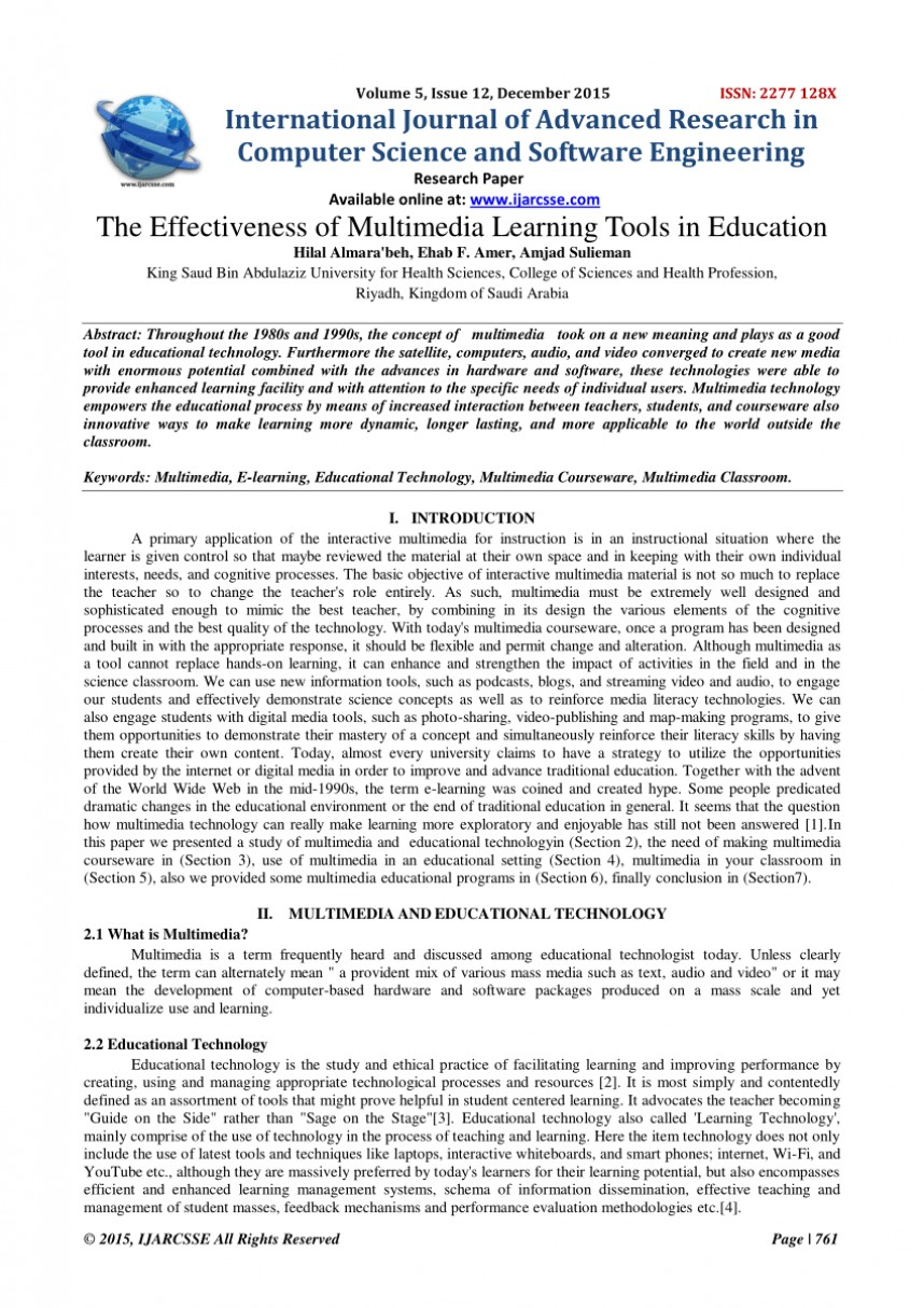003 Research Paper Papers On Education Unique Topics Educational Psychology Technology