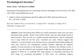 003 Research Paper Psychology On Social Media Magnificent Topics