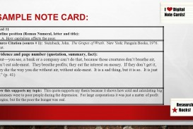 003 Research Paper Slide 9 Note Cards Examples For Unique A Example Card Format Template
