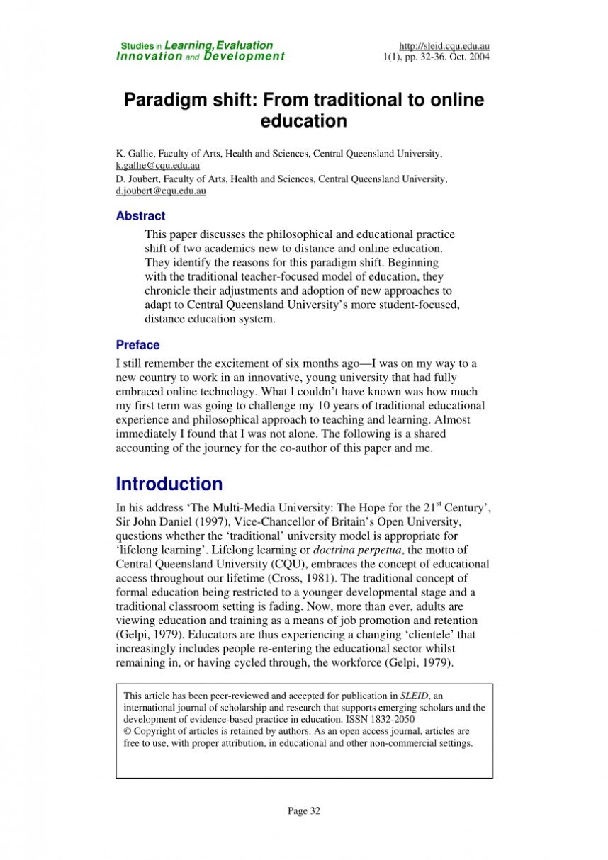 003 Research Papers Online Education Paper Effectiveness Amazing Of