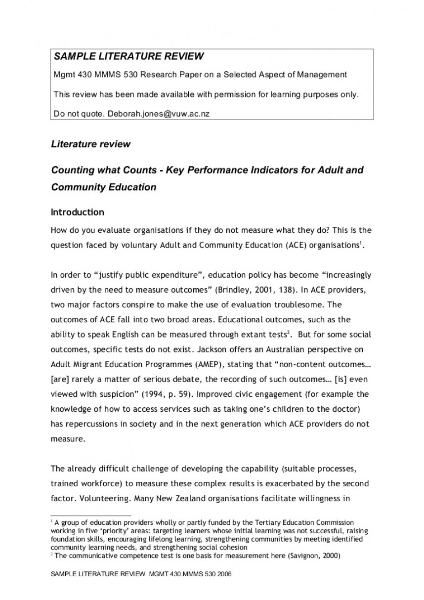 003 Sample Literaturereview Phpapp02 Thumbnail Example Of Review Literature In Research Unusual Paper Related And Studies A Pdf