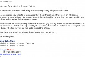 003 Springer Response Research Paper How To Publish In Marvelous Journal