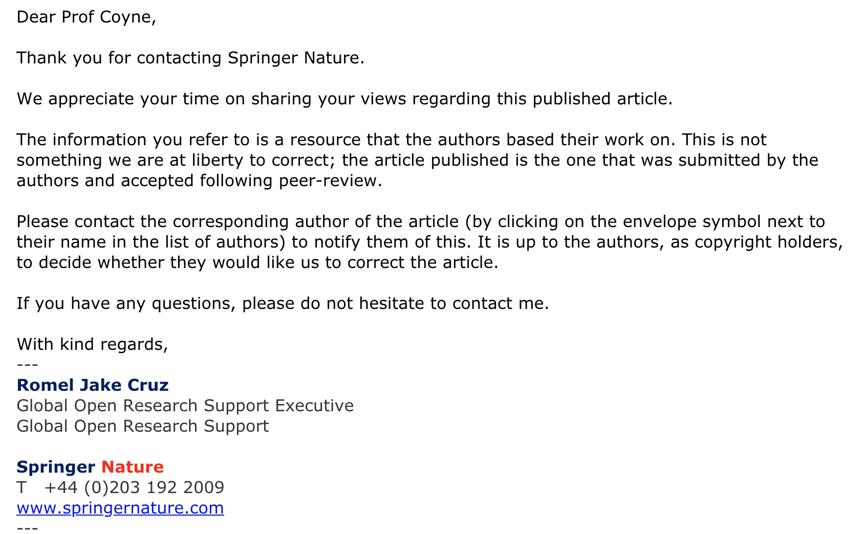 003 Springer Response Research Paper How To Publish In Marvelous Journal Full