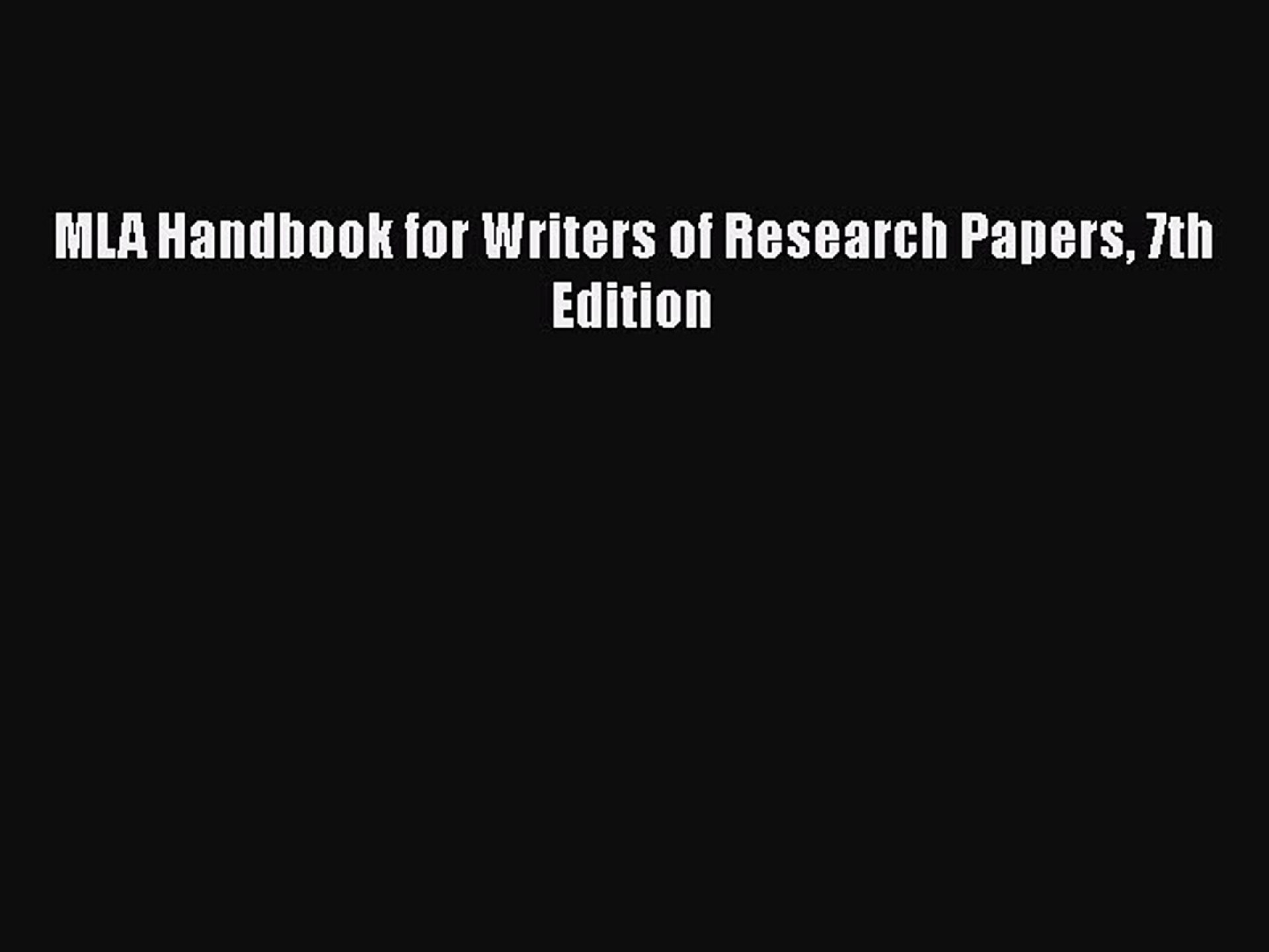 003 X1080 Zxg Mla Handbook For Writers Of Researchs 7th Edition Pdf Download Fearsome Research Papers Free 1920