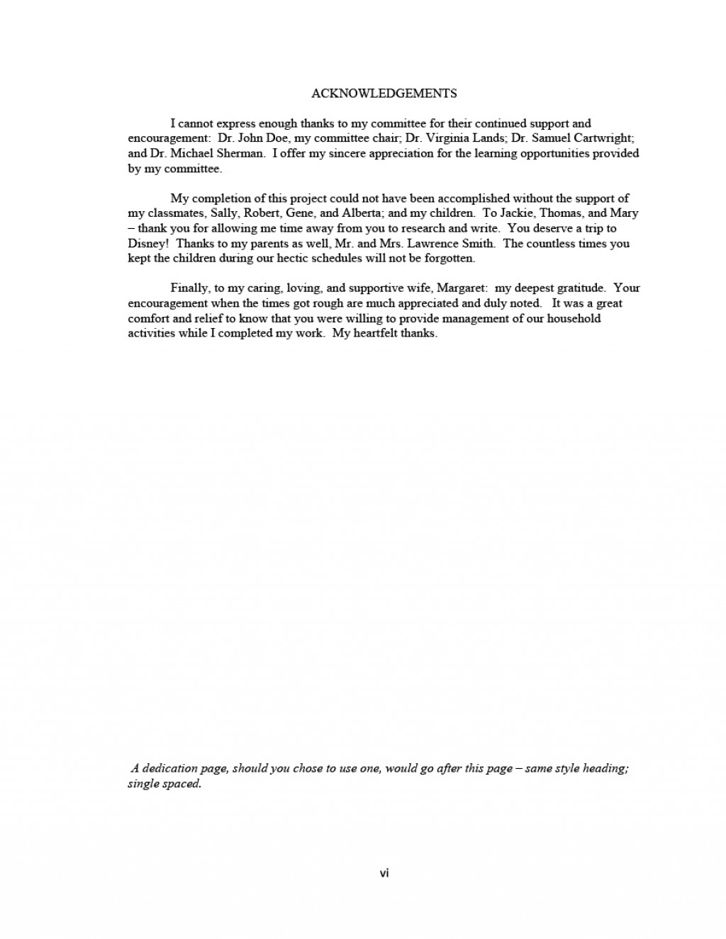 004 Acknowledgement Example For Research Paper Sample Rare Pdf Large