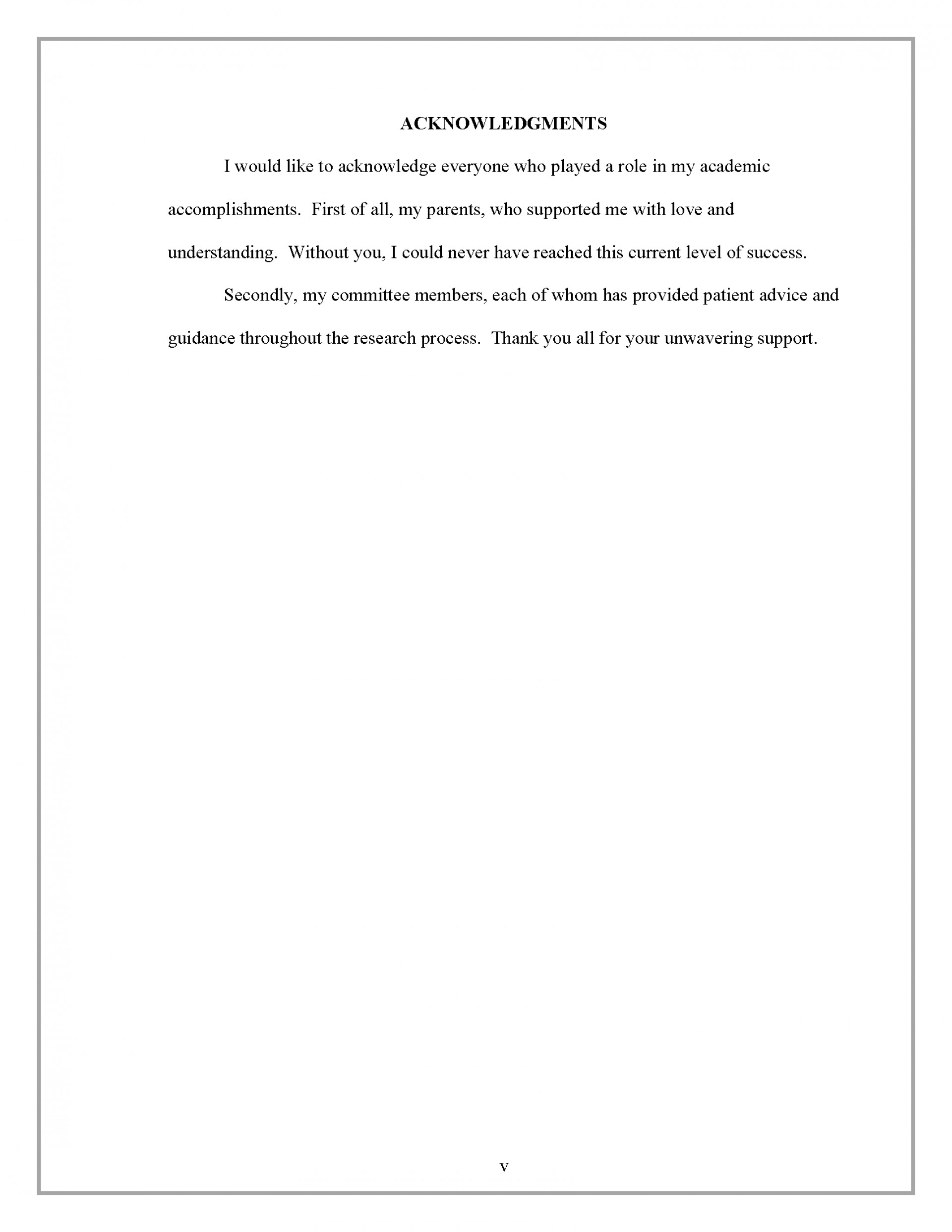 004 Acknowledgment Border Research Paper How To Write Acknowledgement In Rare Examples 1920