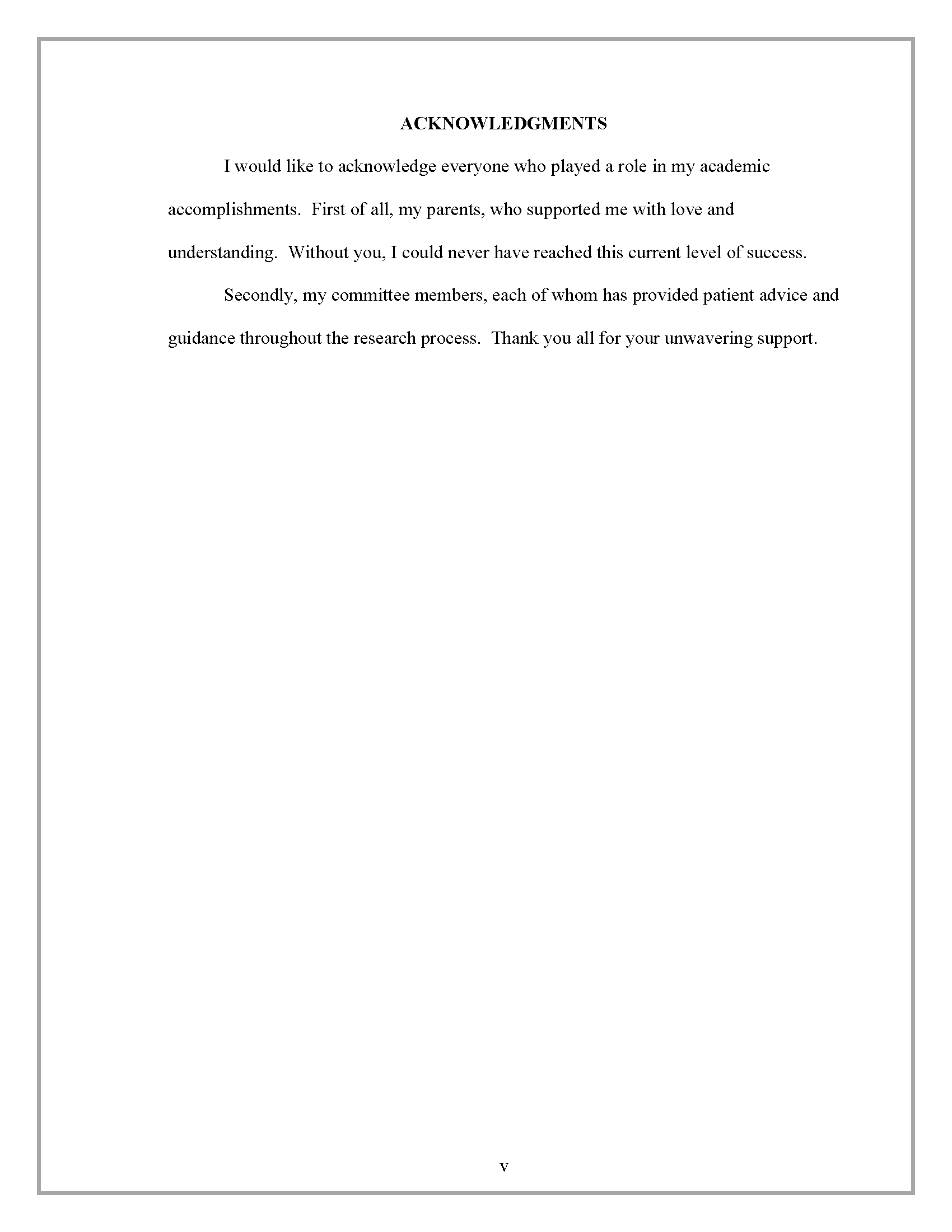 004 Acknowledgment Border Research Paper How To Write Acknowledgement In Rare Examples Full