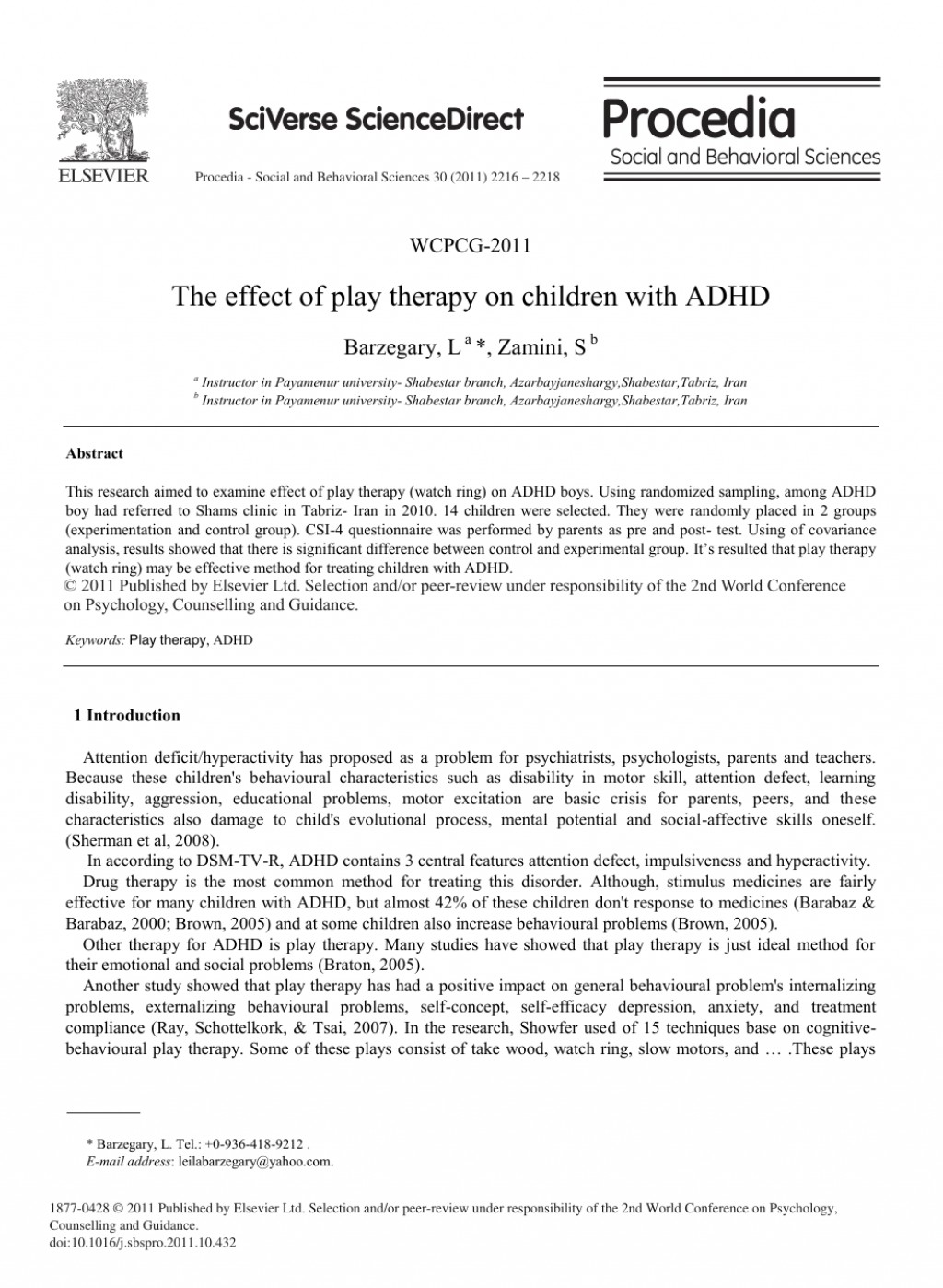 004 Adhd Research Paper Amazing Abstract Large