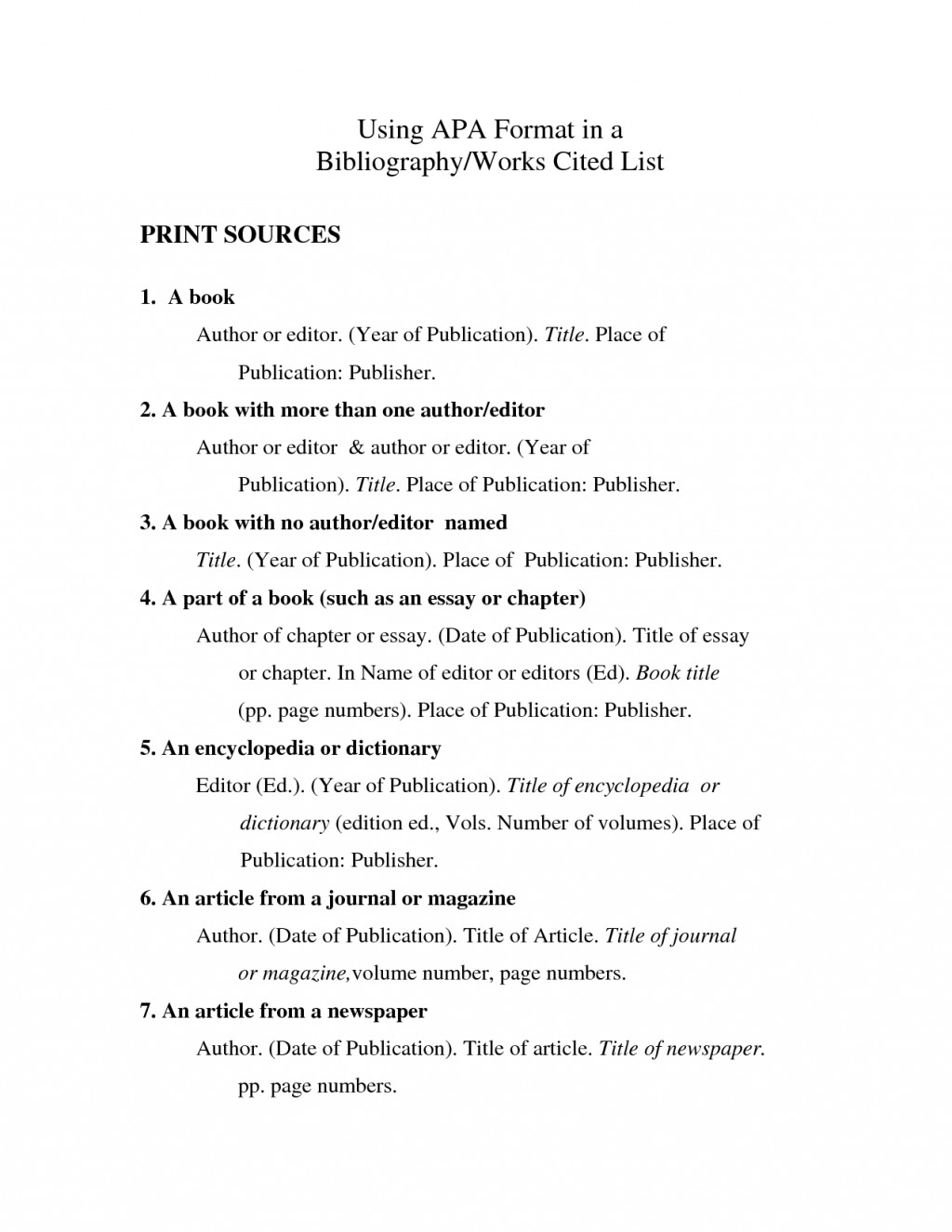 004 Apa Sample Works Cited Page Research Stirring Proper Example Format Large