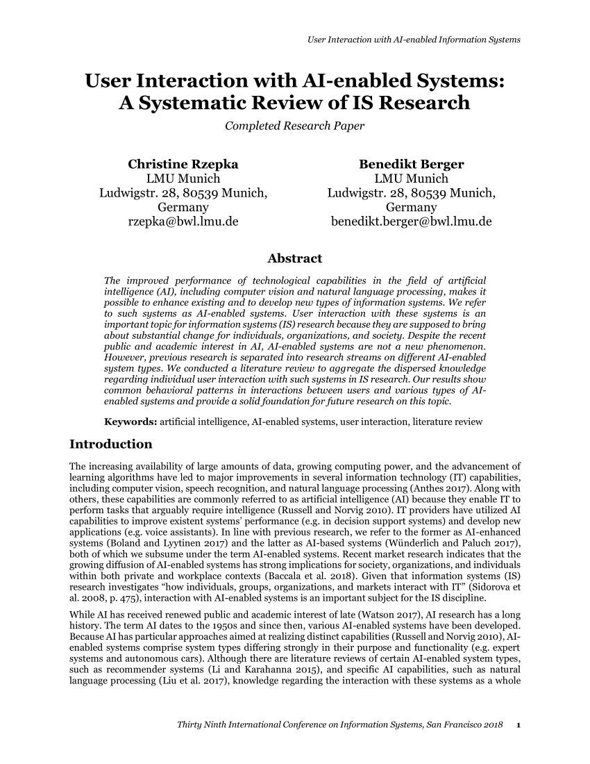 004 Artificial Intelligence Research Paper Pdf Archaicawful 2018 Full