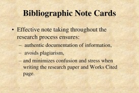 004 Bibliography Note Cards For Research Paper Magnificent