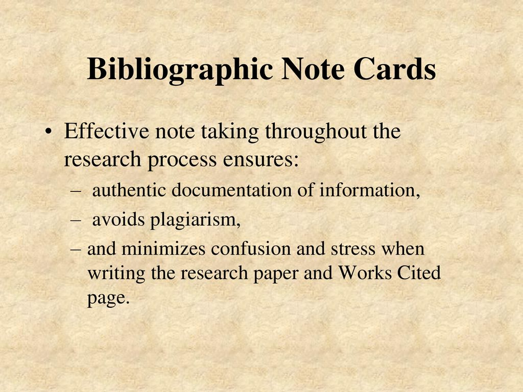 004 Bibliography Note Cards For Research Paper Magnificent Full