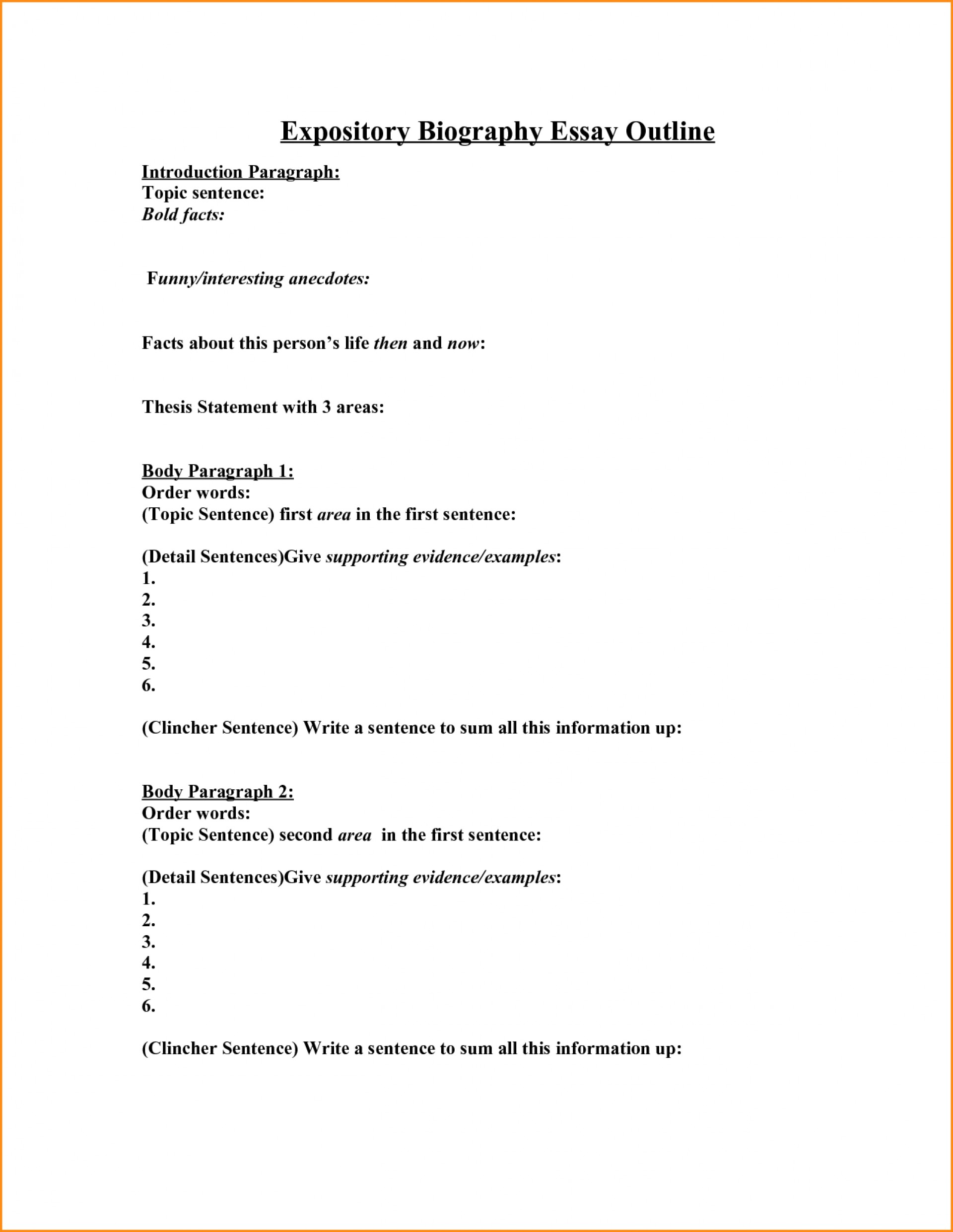004 Biography Research Paper Outline Sample Future Examples Marvelous 1920