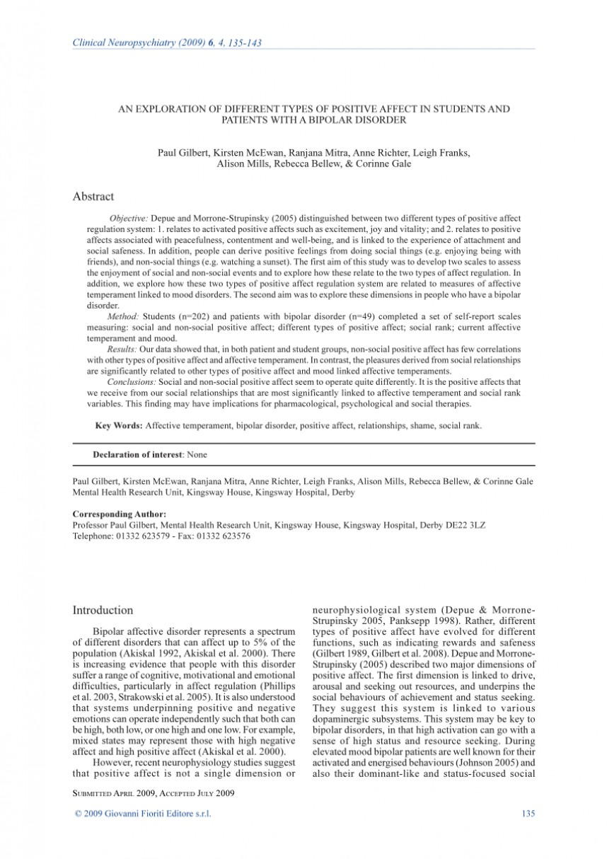 004 Bipolar Disorder Term Paper Research Incredible Abstract