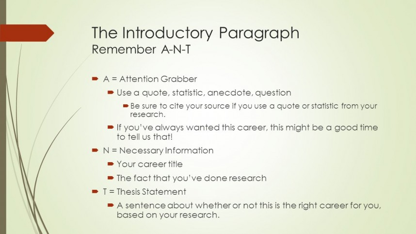 004 Career Research Paper Introduction Paragraph Slide 3 Striking
