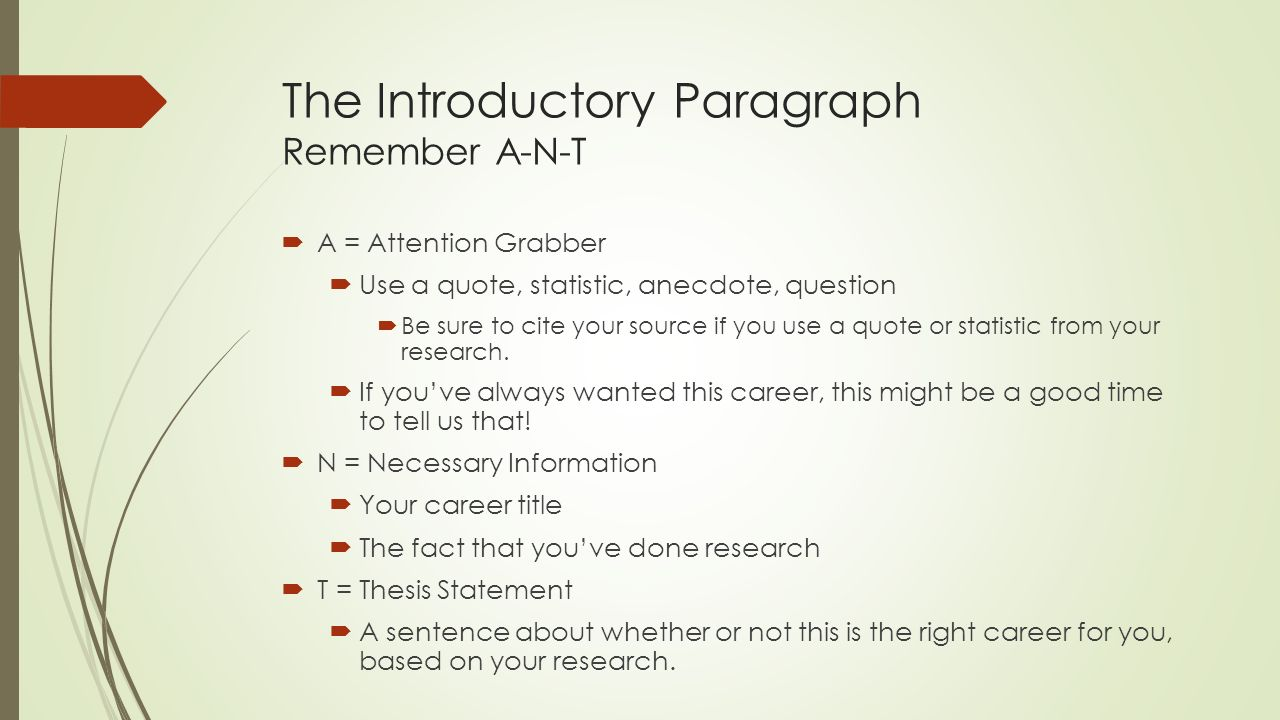 004 Career Research Paper Introduction Paragraph Slide 3 Striking Full