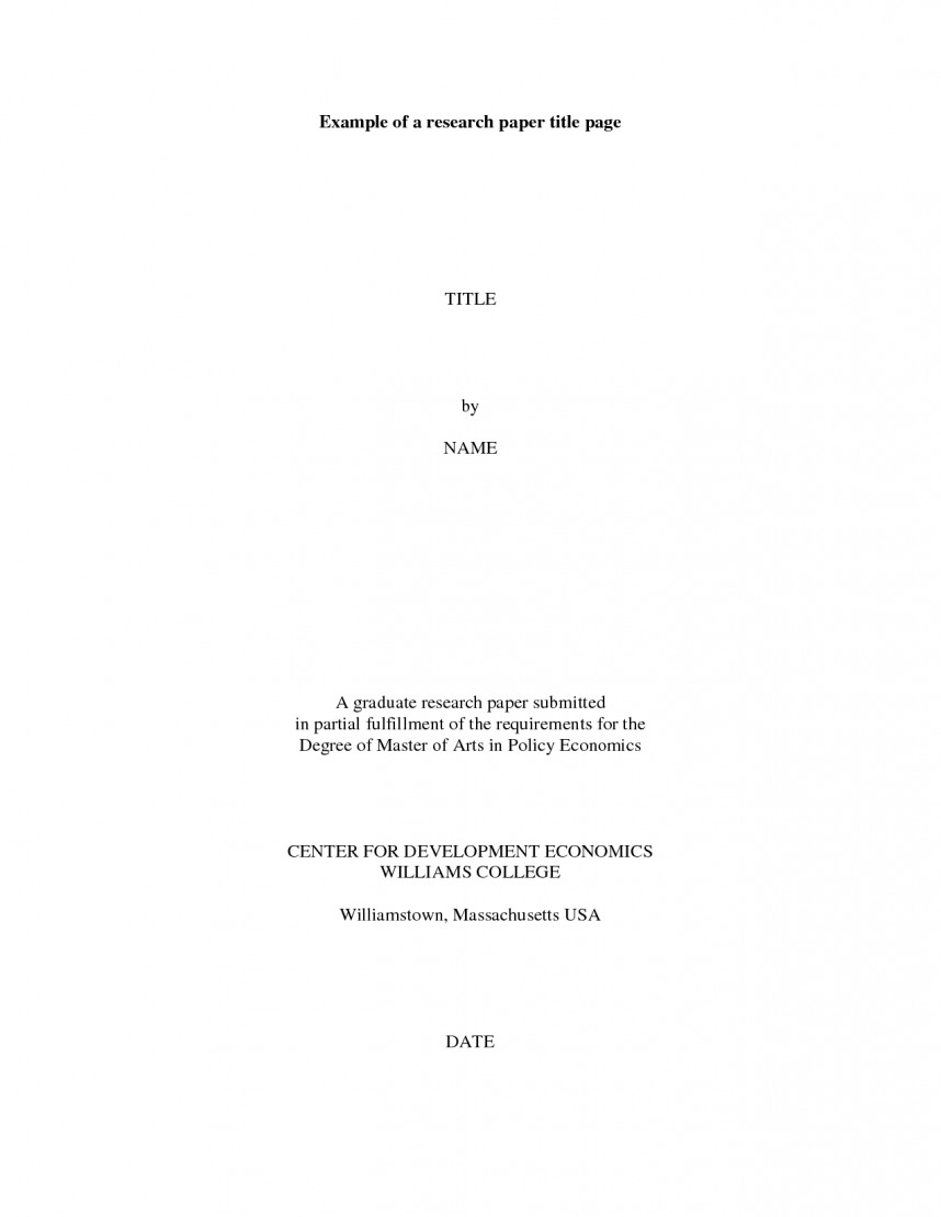 004 Cover Page Format For Research Paper Sample 319781 Astounding Mla Example Title