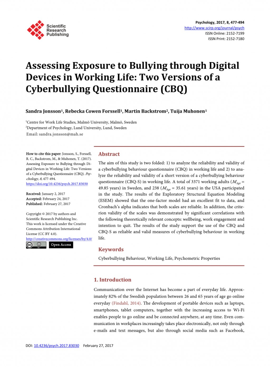 004 Cyberbullying Research Paper Questionnaire Dreaded Large