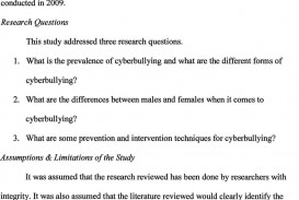 004 Cyberbullying Research Questions Paper Page 8 Awful Topic