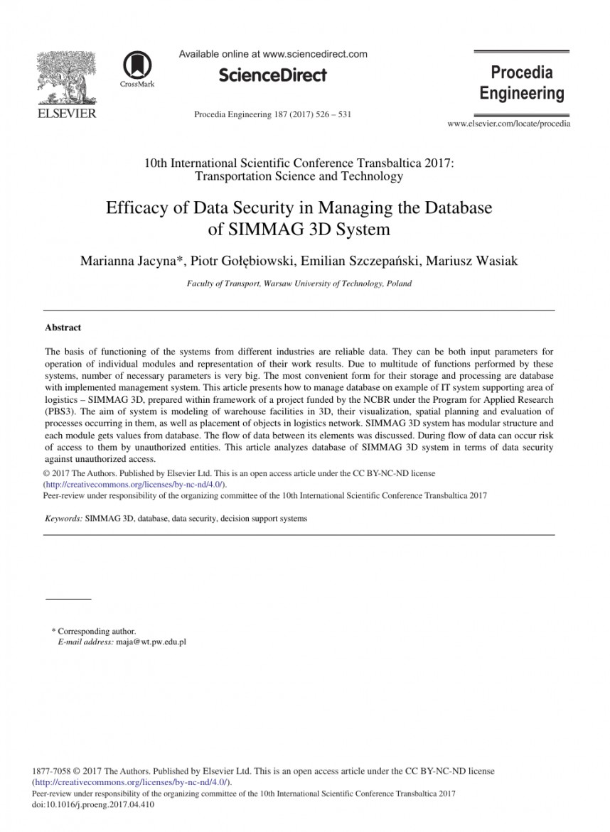 004 Database Security Research Paper Fascinating Abstract 868