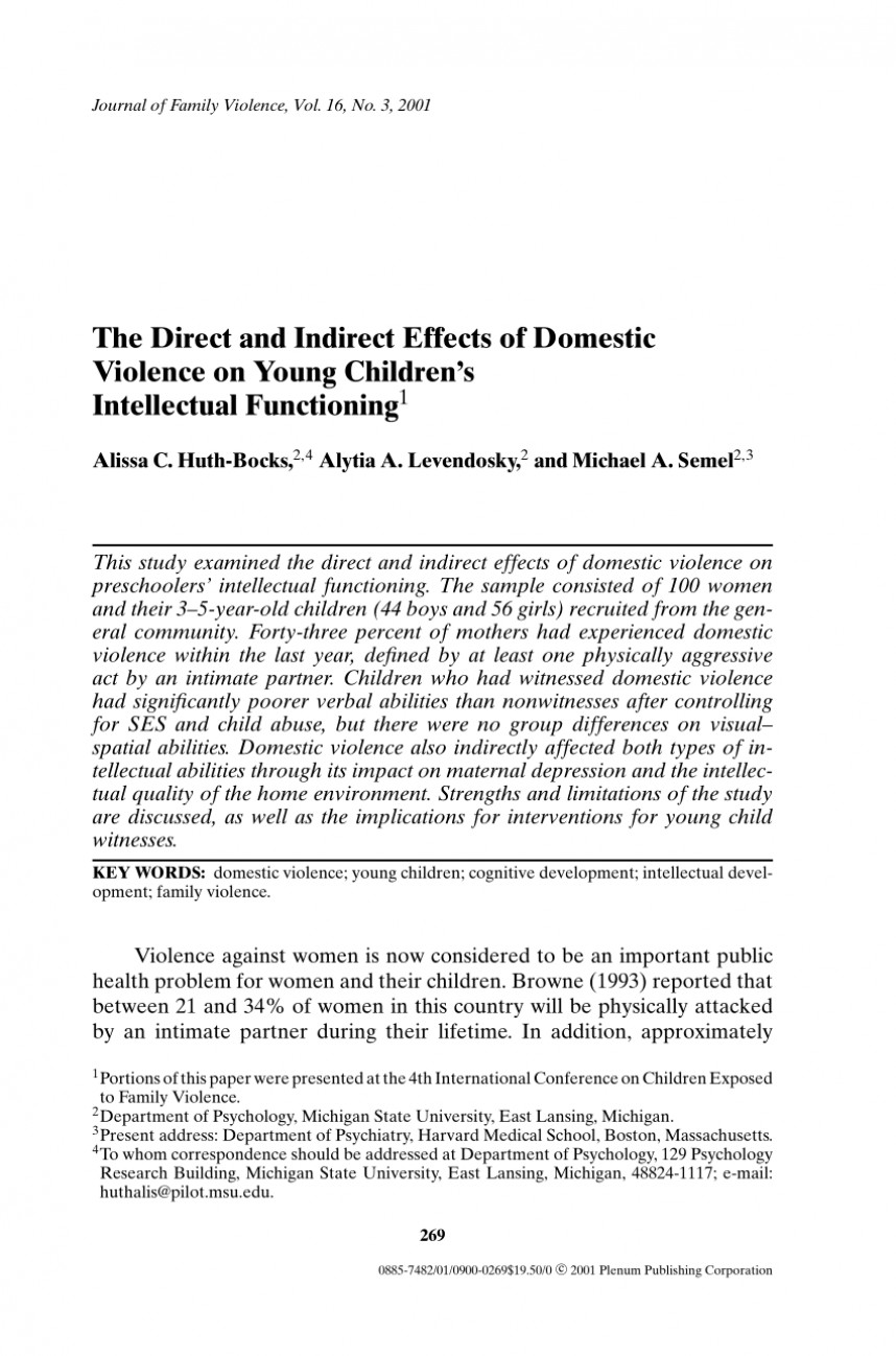 004 Example Abstract For Research Paper On Domestic Violence Awesome