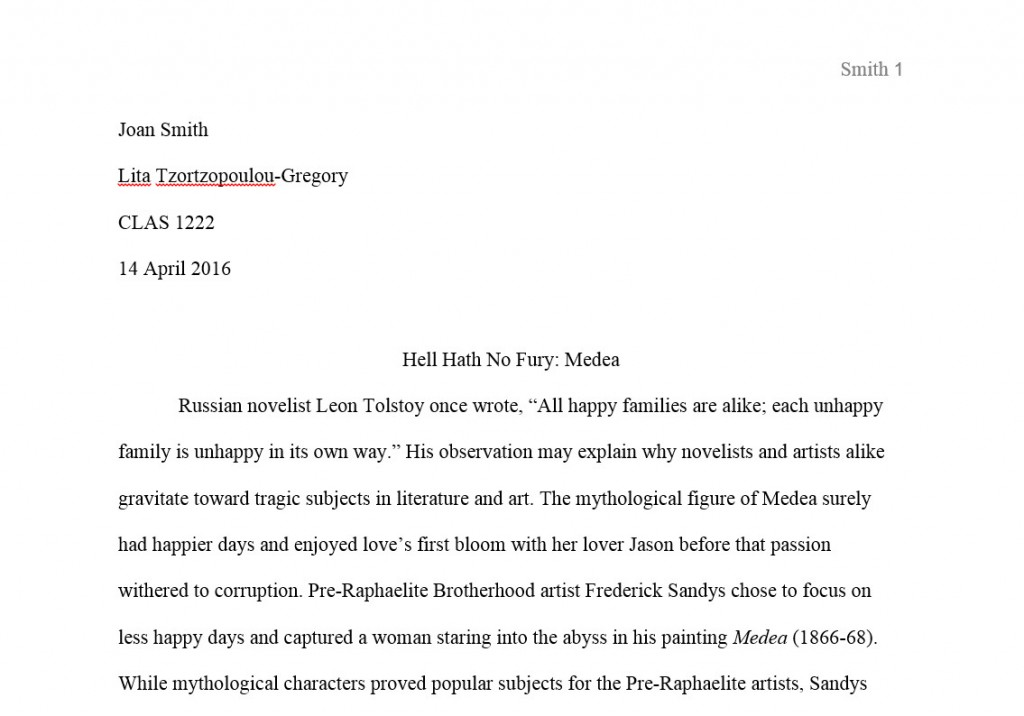004 First Page Research Paper Mla Format Unique Style For The Of A Title Large