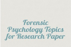 004 Forensic Psychology Topics For Research Unique Paper