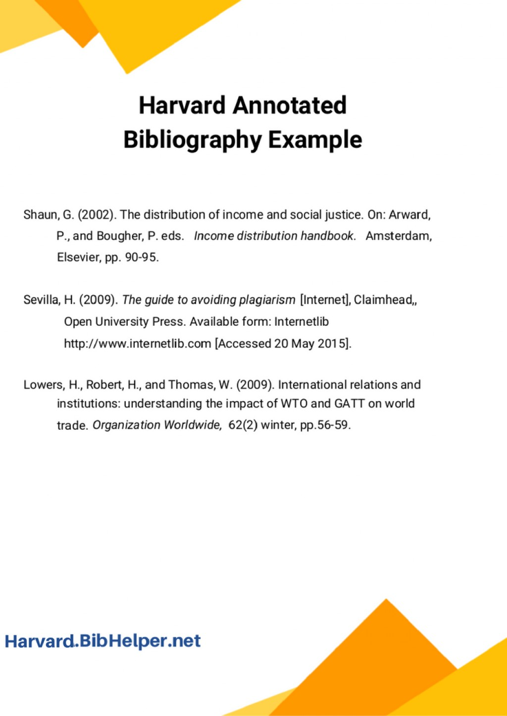 004 Harvard Referencing Research Paper Generator Style Bibliography Stupendous Large