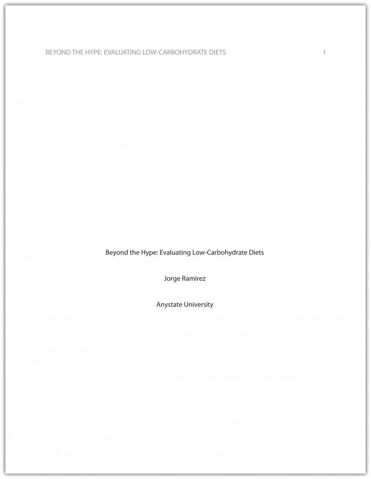 009 research paper how to do cover page for apa format